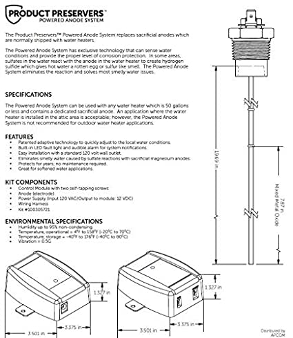 Smith Product Preservers Powered Anode Rod System 100305721 A.O