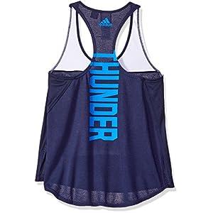 NBA Oklahoma City Thunder Women's Color Block Tank Top, Large, Navy