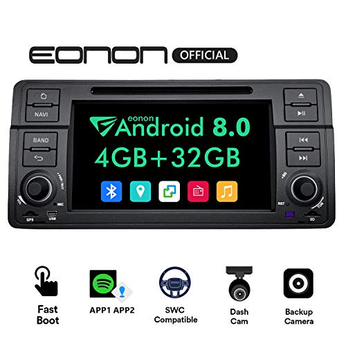Car Stereo Radio Eonon Double Din with Backup CameraTouch Screen, 4GB RAM 32GB ROM Octa-Core Applicable to BMW 3 Series 1999,2000,2001,2002,2003 and 2004(E46) Support Dual Bluetooth, Fastboot-GA9150B