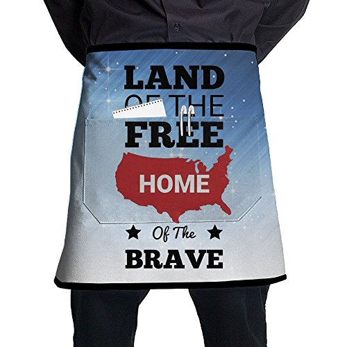 XiHuan Grill Aprons Kitchen Chef Bib Memorial Day Professional For BBQ Baking Cooking For Men Women Pockets