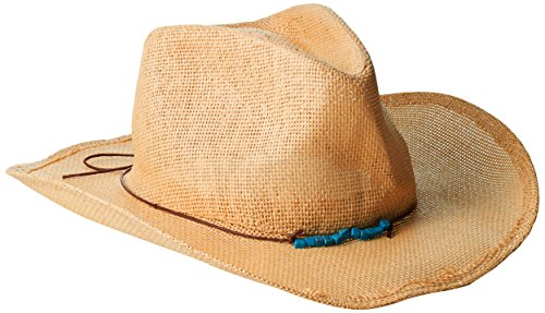 san-diego-hat-company-womens-cowboy-hat-with-cord-tie-and-tuqoise-trim-tobacco-one-size