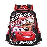 YOURNELO Boy's Cool Cartoon Lightning McQueen Rucksack School Backpack Bookbag (M, Red)