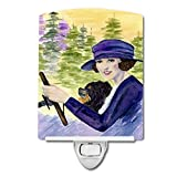 Caroline's Treasures Lady Driving with Her Pomeranian Night Light, 6'' x 4'', Multicolor