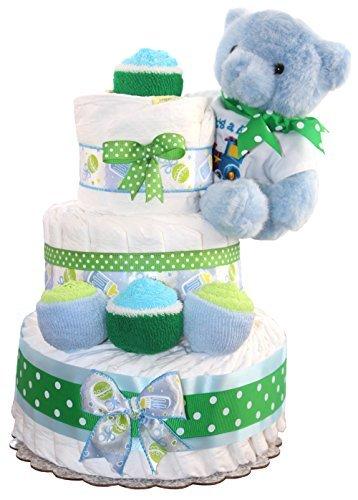 3 Tier Diaper Cake - Blue...