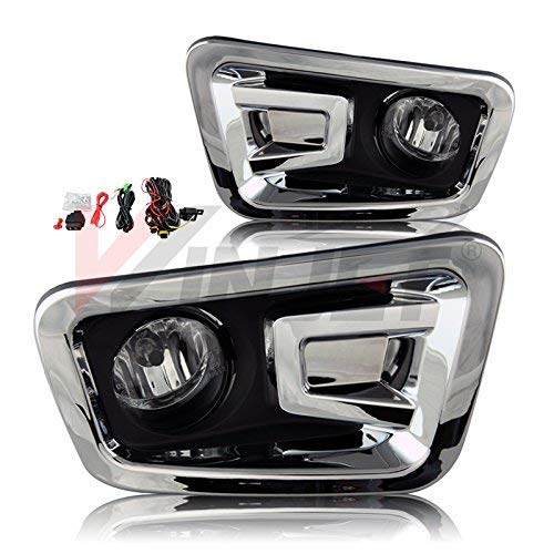 Winjet WJ30-0474-09 OEM Series for [2016-2018 Nissan Titan] Driving Fog Lights + Switch + Wiring - Series W4000