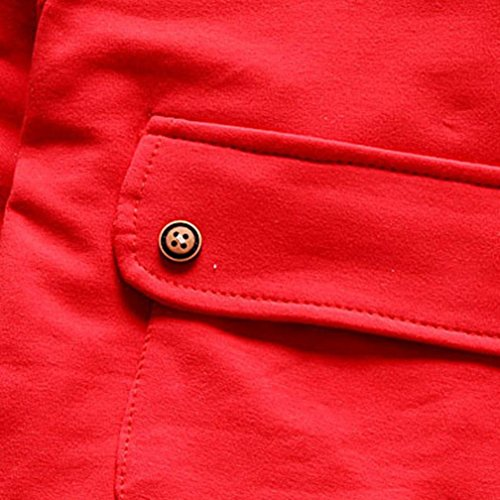 Omiky® Kleinkind Kinder Baby Jungen Mädchen Outfits T-Shirt Tops + Streifen Lange Hosen Kleider Set Rot