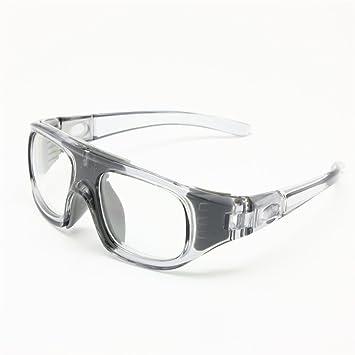 2-en-1 lunettes de basket-ball cadre optique amovible jambes et sangle lunettes de sport de protection (gris) 1hzyohAApo