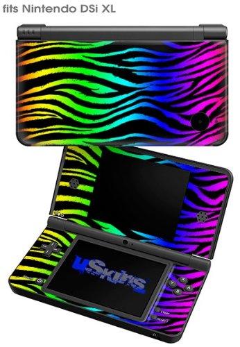 Rainbow Zebra - Decal Style Skin fits Nintendo DSi XL (DSi SOLD SEPARATELY)