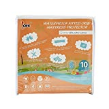 quilting material organic - Lofe Cotton Fitted Crib Mattress Protector Waterproof - Infant Breathable Crib Mattress Pad - Toddler Baby Crib Mattress Cover
