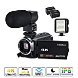 CofunKool Camcorder 4K UHD 60FPS WiFi IR Night Vision 48MP 3.0 IPS Touch