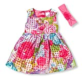 The Childrens Place Baby-Girls Sweet Lil Floral Printed Dress, Pink, 0-3 months