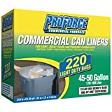 ProForce Commercial Trash Can Liners, Light Duty, 45-50 Gallon, 170-189 Liter by ProForce