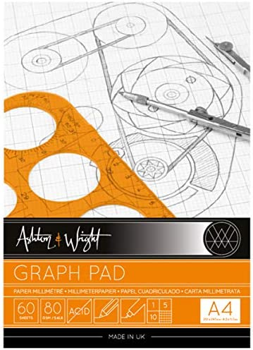 Ashton and Wright Graphenblock, A4, Grau, 80 g/m², 60 Blatt