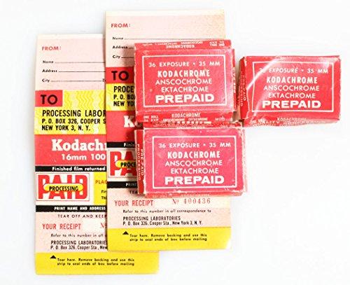 Kodak Mailers (KODACHROME FILM DEVELOPING PREPAID MAILERS SET OF 3)