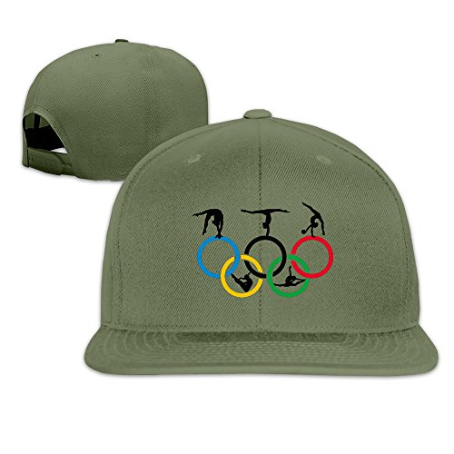 Custom Unisex-Adult Gymnastics And Circle Casual Summer CapHat ForestGreen