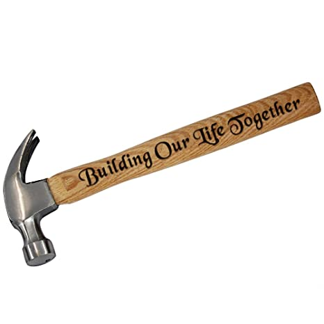 Wedding Gifts Building Our Life Together Engraved Wood Handel Hammer 16 OZ Anniversary Gifts for Men