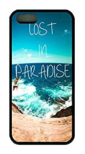 Lost In Paradise Quote Theme Iphone 4 4s Case TPU Material