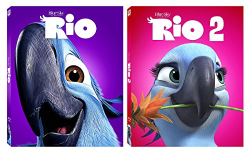 Rio & Rio 2 (Icons Edition) - 2-Blu-ray Animated Family Fun Bundle Set