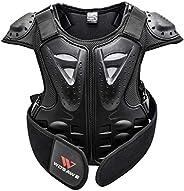 Baosity Kids Chest Back Spine Protector Armor Dirt Bike Motocross Body Guard Vest