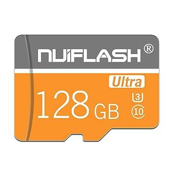 y2y3zfal NUI Flash Super Speed C10 Transmisión Micro SD TF Tarjeta de Memoria para cámara Altavoz Tarjeta de Memoria para teléfono Tableta 128GB