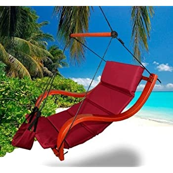 Amazon Com New Deluxe Patio Hanging Air Padded Swing