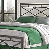 eLuxurySupply Metal Bed Frame - Geometric Style