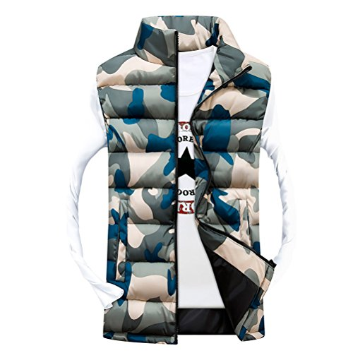 Outerwear Classico Zhhlaixing Jackets Waistcoat Men's Coats Yellow Zipper Camouflage Sleeveless Vests 7znwgq