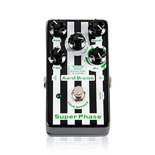 Aural Dream Super Phaser Guitar Effects Pedal with 24 Phaser Effect Guitar Accessories