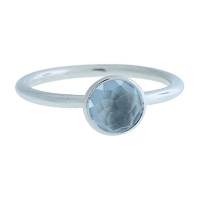 c113175ef Amazon.com: PANDORA March Droplet Ring, Aqua Blue Crystal 191012nab ...