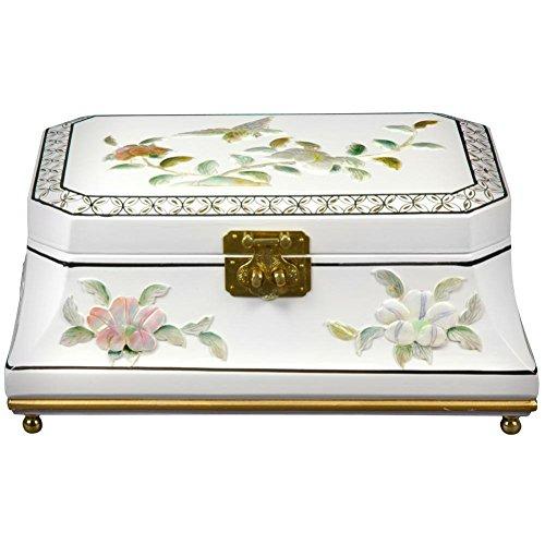 Oriental Furniture Adorlee Jewelry Box - White