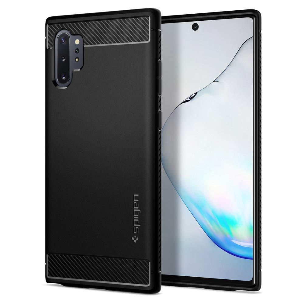 Spigen Rugged Armor Designed for Samsung Galaxy Note 10 Plus Case/Galaxy Note 10 Plus 5G Case (2019) - Matte Black by Spigen