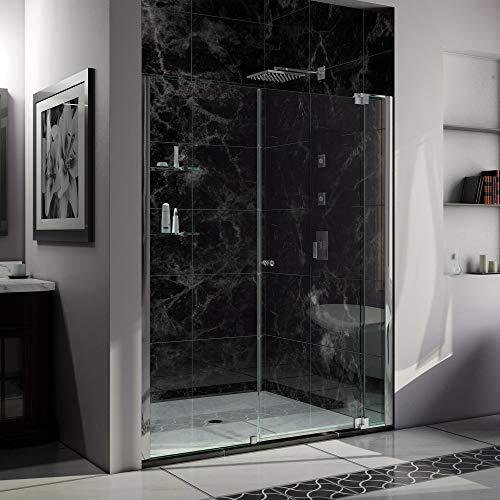 (DreamLine Allure 62-63 in. Width, Frameless Pivot Shower Door, 3/8