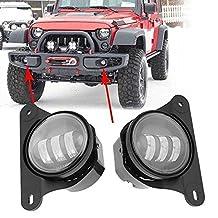 Lantsun 30w led fog lights for 10th anniversary front bumper of jeep wrangler jk 07+(2 Pcs)2 Yr Warranty
