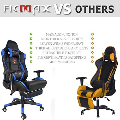 Ficmax Ergonomic Leather High-back Swivel Chair