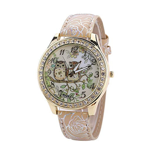 Waist Watch Male Female Universal Cartoon Owl Couple Models women men watches Diamond Quartz Watch Bracelet digital relogio feminino clock ()