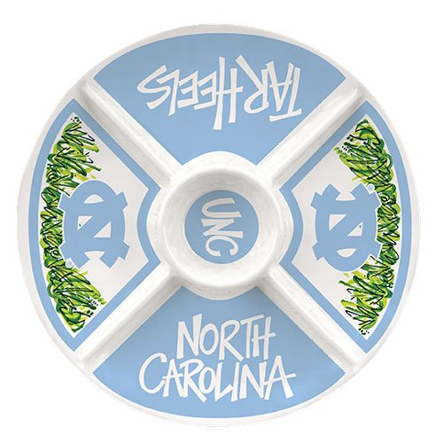 Collegiate Melamine Veggie Tray (North Carolina Tarheels)