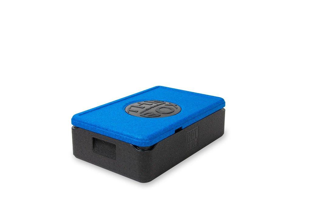 *7er Paket* - THE BOX Thermobox GN 1/1 klein, Art. 79884; blau, Außenmaß 60 x 40 x 18,5 cm, Innenmaß 54 x 34 x 12 cm, Nutzhöhe 12 cm, 21 l.