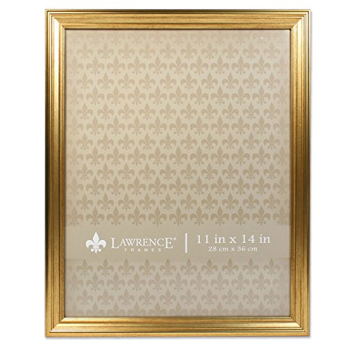 11x14 Sutter Burnished Gold Picture Frame (Easel Gold Frames)