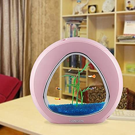 Nano acuario 6 Litros Completo - Rosa: Amazon.es: Productos para mascotas