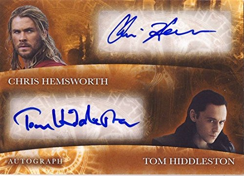Thor 2 The Dark World Trading Card Dual Autographs – Chris Hemsworth & Tom Hiddleston!