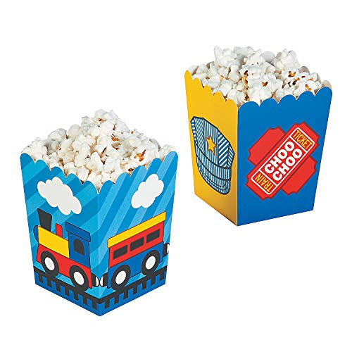 Fun Express Mini Size Train Popcorn Boxes - 24 pc