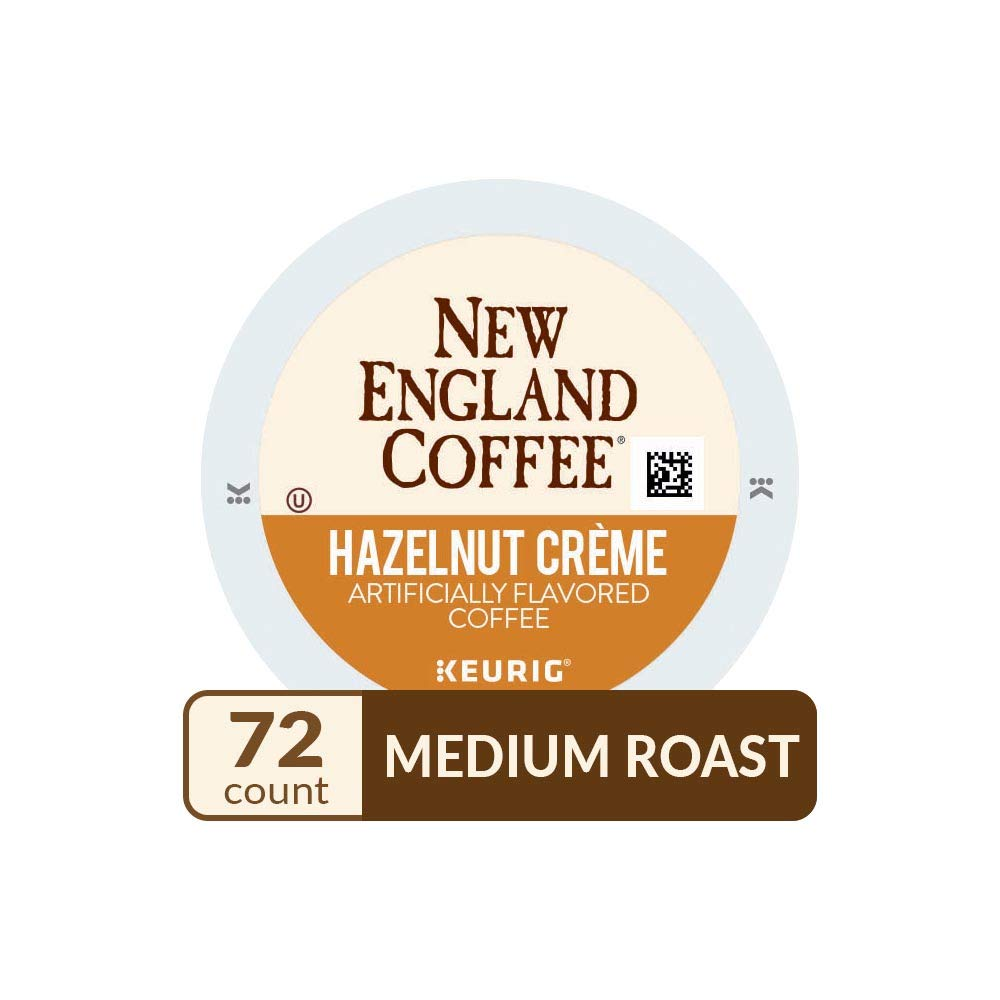 New England Coffee Hazelnut Crème Medium Roast K-Cup Pods 12 ct. Box (Pack of 6)