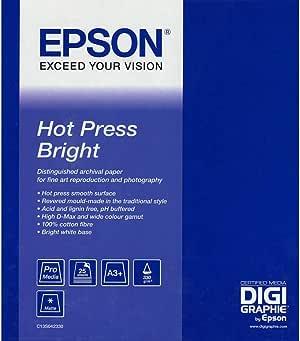 Epson Hot Press Bright - Papel de algodón: Epson: Amazon.es ...