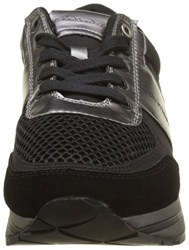 Smooth Sneaker Suede Multicolore Nylon Estez Black Metal Uomo Pewter Calvin Klein XqTEa