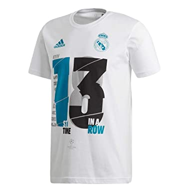 5e8ee6b65 adidas 2018 Real Madrid 13x Champions League Winners Tee White ...