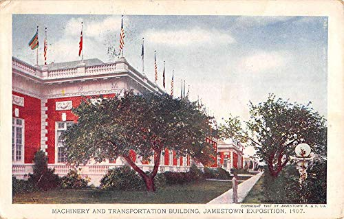 (Jamestown Virginia Machinery Transport Building Antique Postcard K431874)