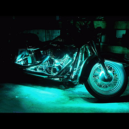 Lylla 10 Pcs Motorcycle Led Light Kit Multi Color Accent