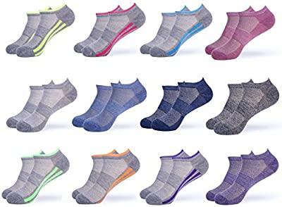 Gallery Seven Womens Athletic Socks - Performance No-Show Sport Socks Women - Tennis, Running Socks - Size 9-11 (6-12 Pack)
