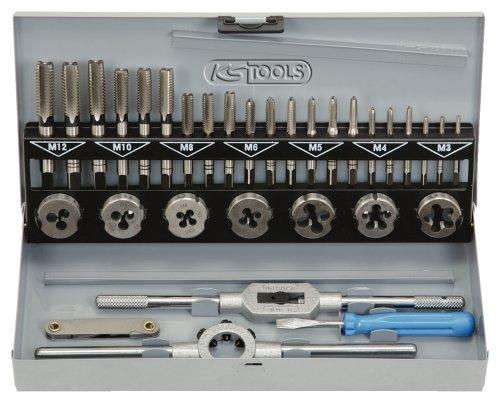KS Tools 331.0632 HSS Gewindeschneidwerkzeug-Satz in Industriekassette, 32-teilig