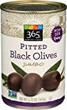365 Everyday Value, Pitted Black Olives Jumbo, 5.75 Ounce